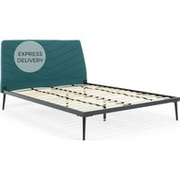 Lex Double Bed, Mineral Blue