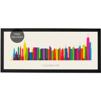 Colossal NYC, Framed Wall Art Print