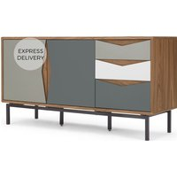 Product photograph showing Louis Sideboard Walnut And Grey