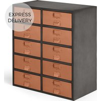 Stow Large Storage Unit, Copper