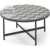 Indra Garden coffee table, grey and white marble