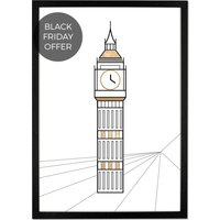 Architectural Landmark Framed Art Print, 50 x 70cm, London