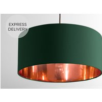 Oro Pendant Drum Lamp Shade  Green and Copper