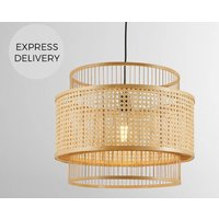 Yen Extra Large Pendant Lamp Shade  Natural Bamboo