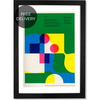 Penrose Annual 60 by Land of Lost Content, 65 x 90 cm (A1) Framed Wall Art Print