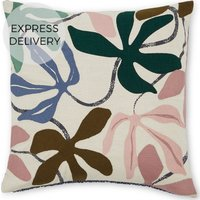 Product photograph showing Flavia Embroidered Cushion 45 X 45cm Multi