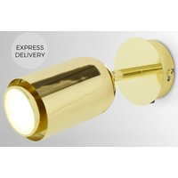 Product photograph showing Korey Led Wall Spot Light Brass