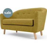 Lottie 2 Seater Sofa, Olive Green