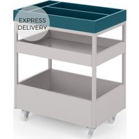 MADE Essentials Yumi Storage Trolley, Grey and Blue
