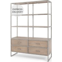 Mila Shelving Unit, Pine and Metal