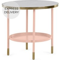 Product photograph showing Fox Side Table Pink And Marble