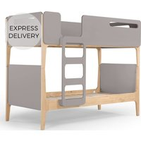 Linus Bunk Bed, Pine and grey