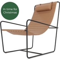 Nalla Sling Accent Chair, Nutmeg Tan Leather