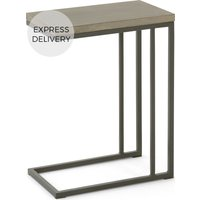 Product photograph showing Edson Garden Side Table Cement And Metal