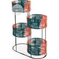 Product photograph showing Ariba Set Of Four Woven Tiered Plant Stands Multi