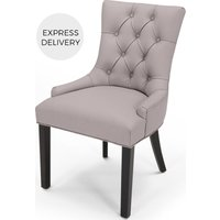 Flynn Scoop Back Chair, Pewter Grey