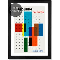 Larousse de Poche by Land of Lost Content, 65 x 90 cm (A1) Framed Wall Art Print