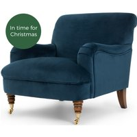 Made About the House Accent Chair, Midnight Blue Velvet