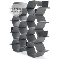 Product photograph showing Polygon Shelving Unit Grey