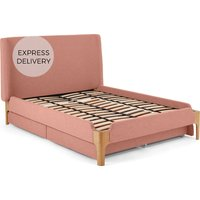 Roscoe King Size Bed With Storage Drawers, Dusk Pink