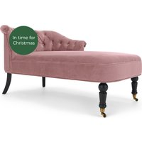 Bouji Right Hand Facing Chaise Longue, Velvet Powder Pink