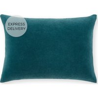 Product photograph showing Lorna Velvet Cushion 35 X 50 Cm Agean Blue