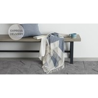 Product photograph showing Auburn Throw 130 X 170cm Blue Grey