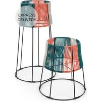 Product photograph showing Ariba Set Of Two Tiered Plant Stands Multi