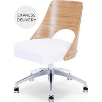 Product photograph showing Hailey Swivel Office Chair Ash And White
