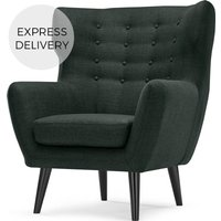 Kubrick Wing Back Chair, Anthracite Grey