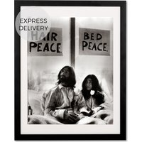 Product photograph showing John Lennon In Bed With Yoko Ono By Mirrorpix 40 X 50 Cm Framed Print