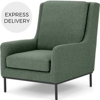 Adho Highback Wing Chair, Darby Green
