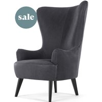 Bodil Accent Chair, Grey Leather