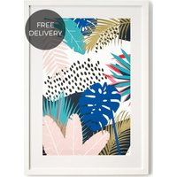 Tropical Leaves, Framed Wall Art Print