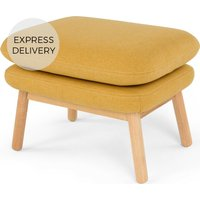 Oslo Footstool, Yolk Yellow