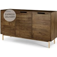Tayma 3 Door Sideboard, Acacia and Brass