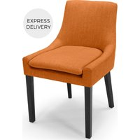 Percy Scoop Back Chair, Marigold Orange