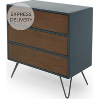 Ukan Chest of Drawers, Blue and Dark Stain Oak