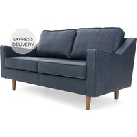 Dallas 2 Seater Sofa, Charm Midnight Premium Leather