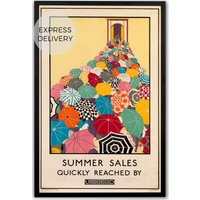 Product photograph showing Summer Sales Revival Framed 50 X 70 Wall Art Print Multi