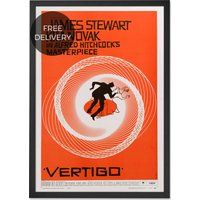 Vertigo Vintage Framed Wall Art Print, Orange