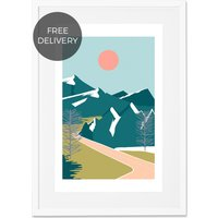 Highway Landscape, Framed Wall Art Print