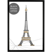 Architectural Landmark Framed Art Print, 50 x 70cm, Paris