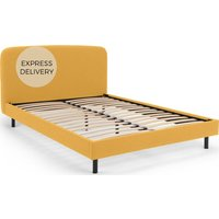 MADE Essentials Besley Super King Size Bed, Yolk Yellow