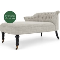 Bouji Left Hand Facing Chaise, Linen Mix Taupe