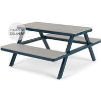 Product photograph showing Thada Garden Pic Nic Table Polywood And Dark Blue