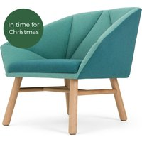 Facet Accent Chair, Mineral Blue and Emerald Green