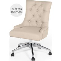 Product photograph showing Flynn Office Chair Putty Beige Pu