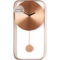 Product photograph showing Bard Pendulum Wall Clock Brushed Copper
