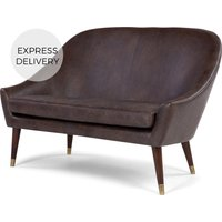 Seattle 2 Seater Sofa, Oxford Brown Premium Leather